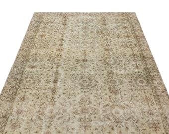 Beige 4'12'' X 8'2'' Ft Vintage Kilim Rug - Turkish Area Rug - Bohemian Rug - Wool Carpet Rug - Hand Knotted Rug - Accent Rug - Hall Rug