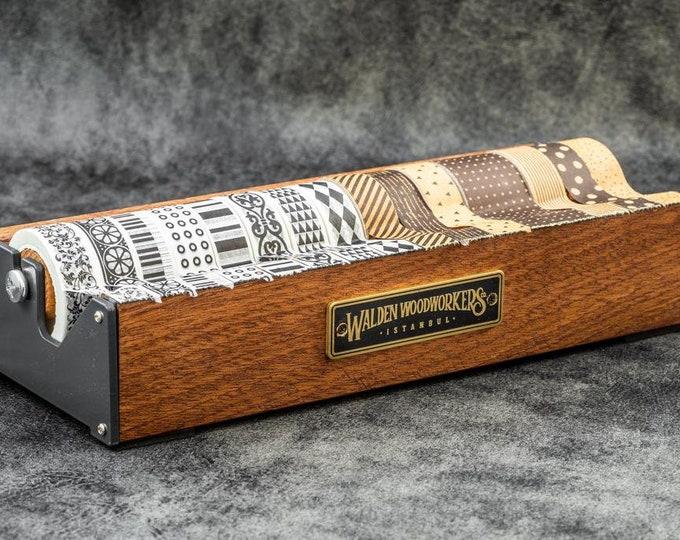 GL Wooden Multi Washi Tape Dispenser - Mahogany - Office Organizer - Washi Tape -  Washi Dispenser - Gift - Crafting