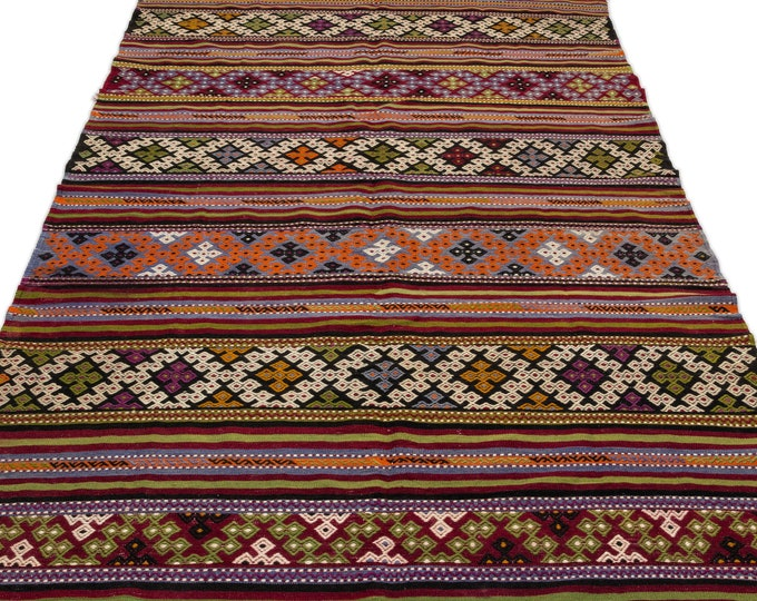 Hemp, Kilim Rug, 5.9X10.8 Ft, Area Rug, Kilim Rug, Rugs, Boho Decor, Moroccan Rug, Vintage Rug, Turkish Rug, Persian Rug, Oushak Rug, Runner