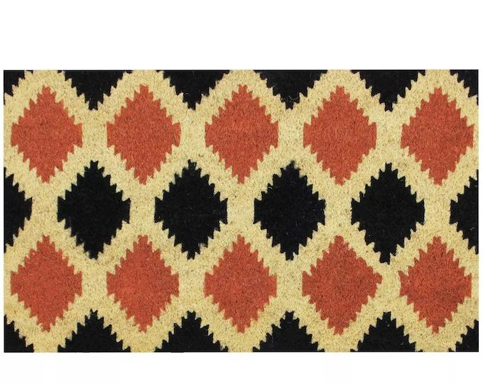 """18""""X30"""" Tribal Doormat - Doormat - Funny Welcome Mat - Housewarming Gift - Wedding Gift - Newlywed Gift - Funny Doormat - Coir Doormat"""