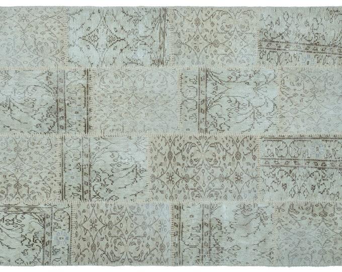 Beige 4'4''X6'3'' Ft Turkish Area Rug - Bohemian Rug - Wool Carpet Rug - Hand Knotted Rug - Accent Rug - Hall Rug - Turkish Home Decor