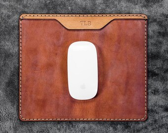 GL %100 Genuine Leather Mouse Pad
