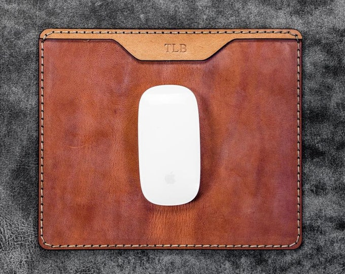 GL %100 Genuine Leather Mouse Pad - Multi Washi Tape Dispenser - Leather Mouse Pad - Gift - Gift For Him - Office