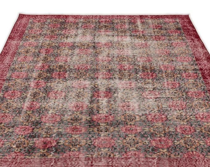 Retro 5'5''X8'5'' Ft - Area Rug - Moroccan Rug - Boho Decor - Kilim Rug -  Rug - Oushak Rug - Persian Rug - Vintage Rug - Runner - Sale