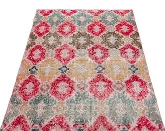 Vintage  3'3'' X 5'9'' Ft Vintage Kilim Rug - Turkish Area Rug - Bohemian Rug - Wool Carpet Rug - Hand Knotted Rug - Accent Rug - Hall Rug