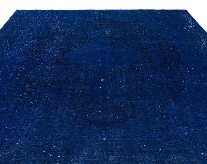 Blue Persian Rug 9.8X12.8 Ft, Area Rug, Kilim Rug, Rugs, Boho Decor, Moroccan Rug, Vintage Rug, Turkish Rug, Persian Rug, Oushak Rug