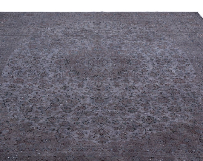 Gray Persian Rug 9.6X12.9 Ft, Area Rug, Kilim Rug, Rugs, Boho Decor, Moroccan Rug, Vintage Rug, Turkish Rug, Persian Rug, Oushak Rug