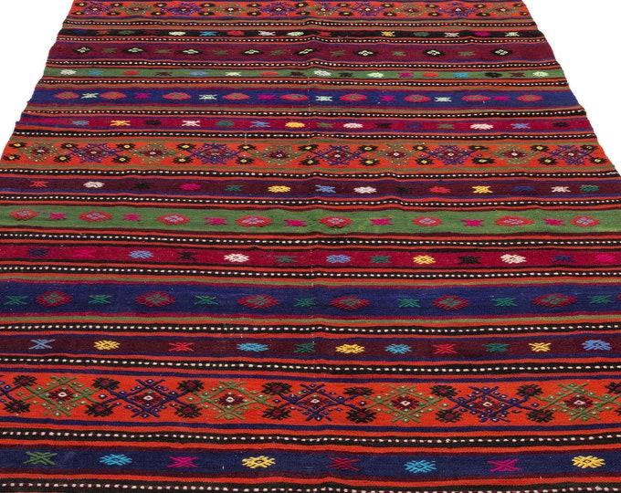 Hemp, Kilim Rug, 6.2X11.3 Ft, Area Rug, Kilim Rug, Rugs, Boho Decor, Moroccan Rug, Vintage Rug, Turkish Rug, Persian Rug, Oushak Rug, Runner