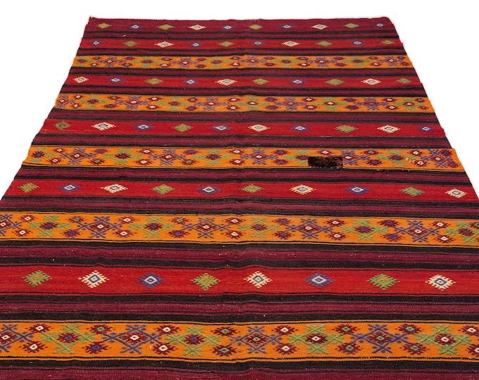 Vintage Hemp - Kilim Runner 5.9X11.1 Ft, Area Rug, Kilim Rug, Rugs, Boho Decor, Moroccan Rug, Vintage Rug, Turkish Rug, Oushak Rug, Runner