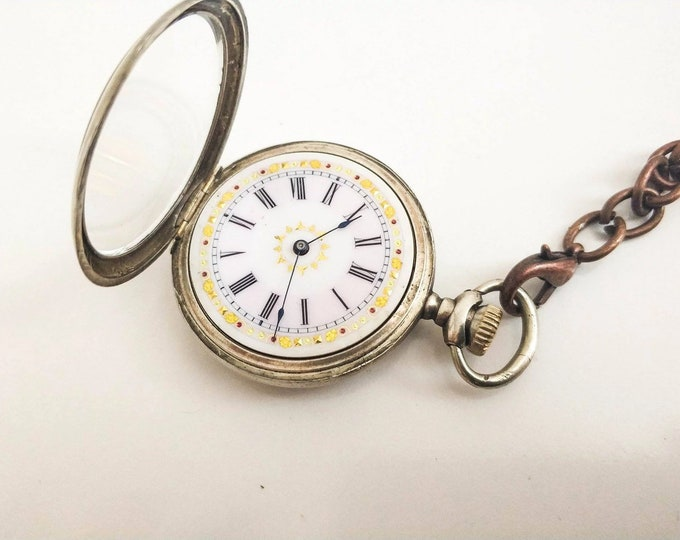 USA Waltham 1910s Pocket Watch - Personalized Pocket Watch - Mechanical Pocket Watch - Steampunk Pocket Watch - Gift - Present - Steampunk