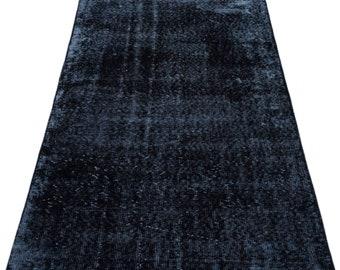 Black 3'1'' X 6'8'' Ft Vintage Kilim Rug - Turkish Area Rug - Bohemian Rug - Wool Carpet Rug - Hand Knotted Rug - Accent Rug - Hall Rug