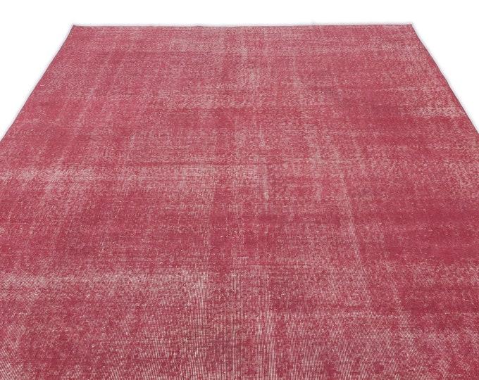 Vintage Area Pink Rug 6.7X10.2 Ft, Area Rug, Kilim Rug, Rugs, Boho Decor, Moroccan Rug, Vintage Rug, Turkish Rug, Persian Rug, Oushak Rug