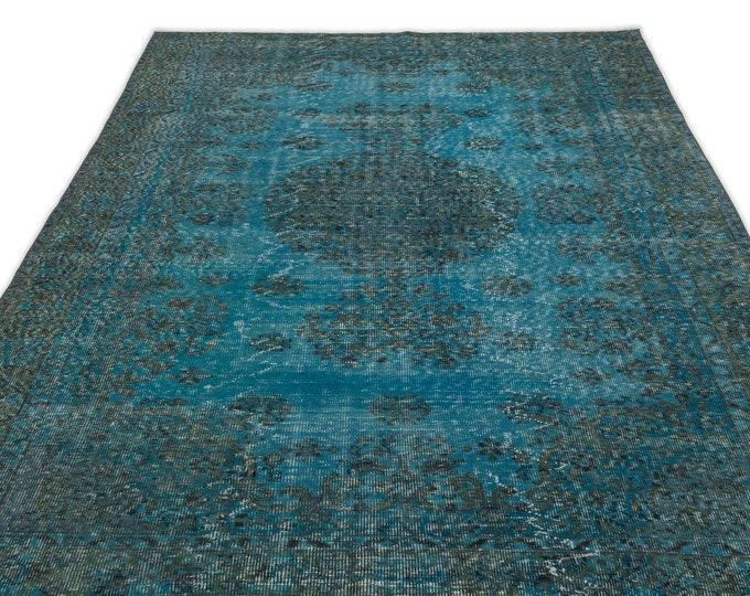 Turquoise 5'8''X9'0'' Ft - Area Rug - Moroccan Rug - Boho Decor - Kilim Rug -  Rug - Oushak Rug - Persian Rug - Vintage Rug - Runner - Sale