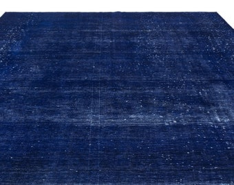 Blue  9'6'' X 12'4'' Ft Persian Rug  - Turkish Area Rug - Bohemian Rug - Wool Carpet Rug - Hand Knotted Rug - Accent Rug - Hall Rug