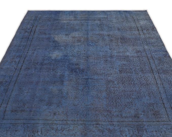 Blue 5'3''X8'8'' Ft - Area Rug - Moroccan Rug - Boho Decor - Kilim Rug -  Rug - Oushak Rug - Persian Rug - Vintage Rug - Runner - Sale