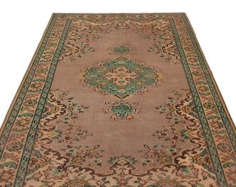 Naturel 4'12'' X 8'2'' Ft Vintage Kilim Rug - Turkish Area Rug - Bohemian Rug - Wool Carpet Rug - Hand Knotted Rug - Accent Rug - Hall Rug