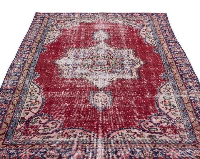 Turkish Vintage Area Rug, 4.9X8.6 Ft, Area Rug, Kilim Rug, Rugs, Boho Decor, Moroccan Rug, Vintage Rug, Persian Rug, Oushak Rug, Runner Rug