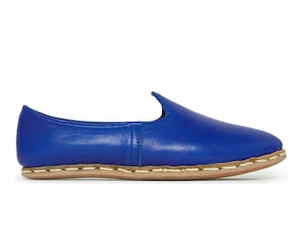 Sabah Blue Loafer - Womens Shoes - Leather Sandals - Wedding Shoes - Bridal Shoes - Gift For Men - Gift For Women - Bridesmaid Gift