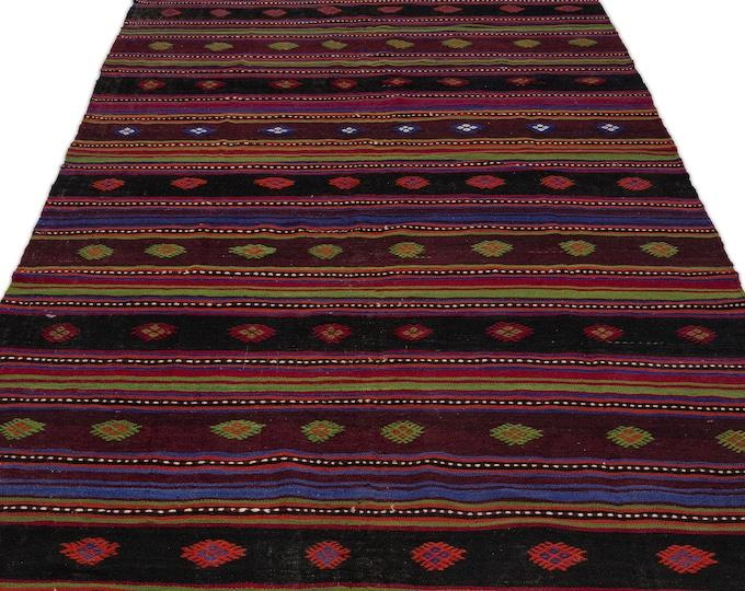 Turkish Vintage Kilim Rug 5.9X10.6 Ft, Area Rug, Rugs, Boho Decor, Moroccan Rug, Vintage Rug, Turkish Rug, Persian Rug, Oushak Rug, Runner