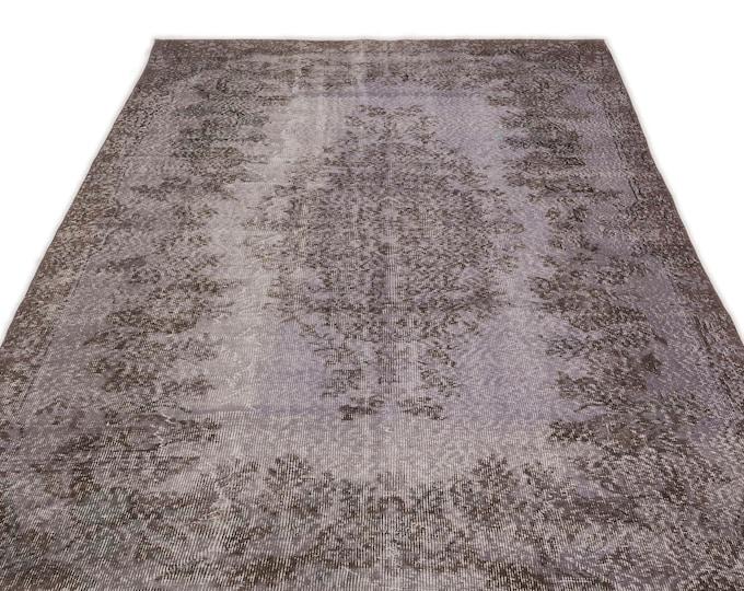 Gray 5'4''X10'2'' Ft - Area Rug - Moroccan Rug - Boho Decor - Kilim Rug -  Rug - Oushak Rug - Persian Rug - Vintage Rug - Runner - Sale