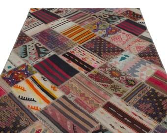 Area Kilim Rug 5.2X7.7 Ft, Area Rug, Kilim Rug, Rugs, Boho Decor, Moroccan Rug, Vintage Rug, Turkish Rug, Persian Rug, Oushak Rug,Runner Rug