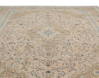 Persian Beige Rug 9.5X13.0 Ft,  Area Rug, Kilim Rug, Rugs, Boho Decor, Moroccan Rug, Vintage Rug, Turkish Rug, Persian Rug, Oushak Rug