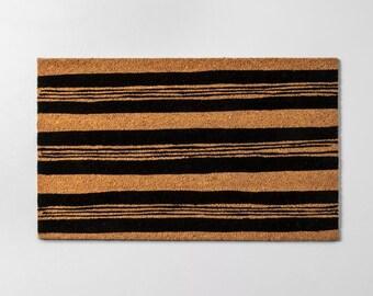 """18""""X30"""" Striped Doormat  - Doormat - Funny Welcome Mat - Housewarming Gift - Wedding Gift - Newlywed Gift - Funny Doormat - Coir Doormat"""