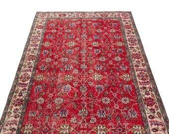 Vintage  3'9'' X 6'11'' Ft Vintage Kilim Rug - Turkish Area Rug - Bohemian Rug - Wool Carpet Rug - Hand Knotted Rug - Accent Rug - Hall Rug