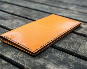 Leather Long Wallet - Personalized Leather Wallet - Gifts for Men - Gifts for Dad - Gifts for Boyfriend - Personalized Gifts - Add Initials