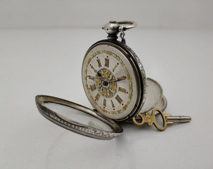 Swiss MATHEY 1870 Pocket Watch - Personalized Pocket Watch - Mechanical Pocket Watch - Steampunk Pocket Watch - Gift - Present - Steampunk