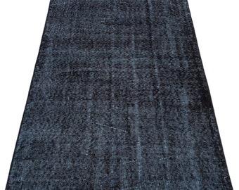 Black 3'0'' X 6'3'' Ft Vintage Kilim Rug - Turkish Area Rug - Bohemian Rug - Wool Carpet Rug - Hand Knotted Rug - Accent Rug - Hall Rug