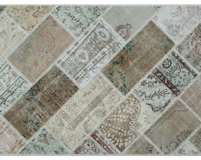 Beige 3'11''X5'11'' Ft Turkish Area Rug - Bohemian Rug - Wool Carpet Rug - Hand Knotted Rug - Accent Rug - Hall Rug - Turkish Home Decor
