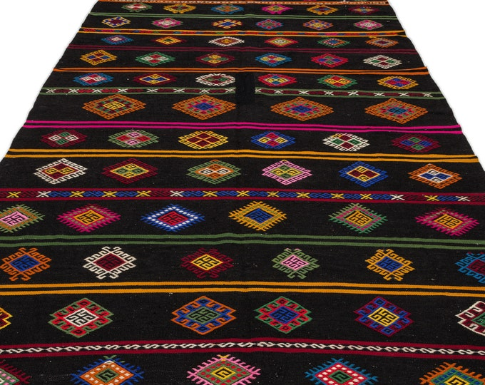 Multicolor Kilim Runner Rug 6.7X13.4 Ft, Area Rug, Kilim Rug, Rugs, Boho Decor, Moroccan Rug, Vintage Rug, Turkish Rug, Persian Rug, Oushak