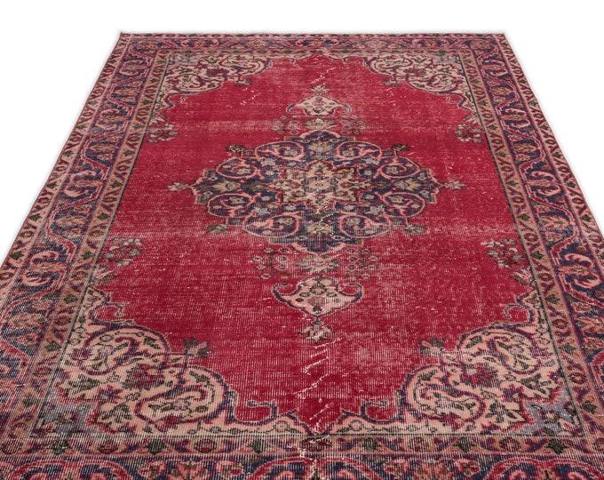 Vintage Area Rug 5.5X8.10 Ft, Area Rug, Kilim Rug, Rugs, Boho Decor, Moroccan Rug,Housewarming Gift, Turkish Rug, Persian Rug, Oushak Rug