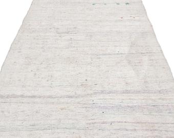 Hemp 4'12'' X 9'8'' Ft Kilim Rug -Turkish Area Rug -Bohemian Rug -Wool Carpet Rug - Hand Knotted Rug - Accent Rug -Turkish Home Decor