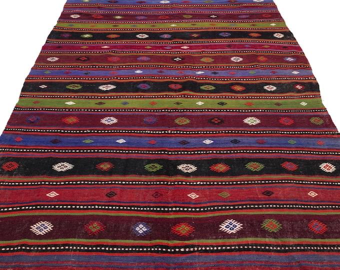 Hemp, Kilim Rug, 6.1X11.6 Ft, Area Rug, Kilim Rug, Rugs, Boho Decor, Moroccan Rug, Vintage Rug, Turkish Rug, Persian Rug, Oushak Rug, Runner