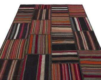 Area Kilim Rug 5.2X7.8 Ft, Area Rug, Kilim Rug, Rugs, Boho Decor, Moroccan Rug, Vintage Rug, Turkish Rug, Persian Rug, Oushak Rug,Runner Rug