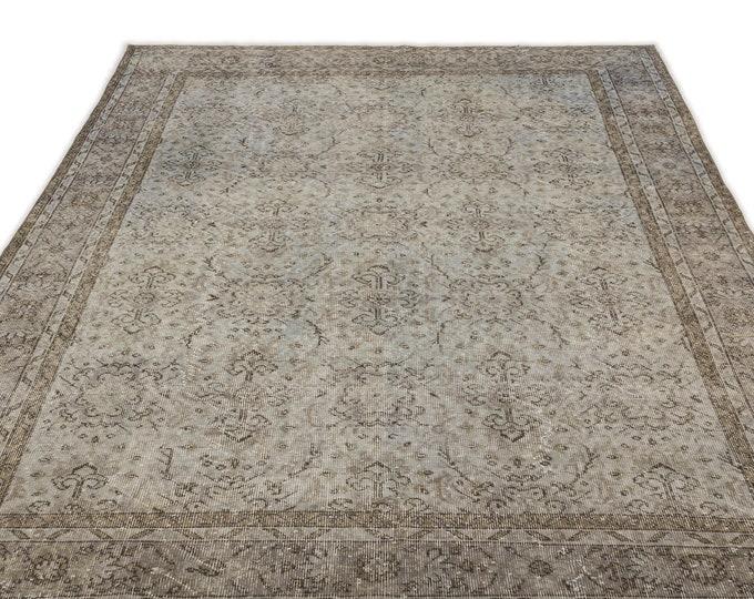 Gray 6'2''X9'11'' Ft - Area Rug - Moroccan Rug - Boho Decor - Kilim Rug -  Rug - Oushak Rug - Persian Rug - Vintage Rug - Runner - Sale