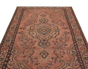 Vintage Kilim Rug Naturel 5'2'' X 7'10'' Ft - Turkish Area Rug - Bohemian Rug - Wool Carpet Rug - Hand Knotted Rug - Accent Rug - Hall Rug