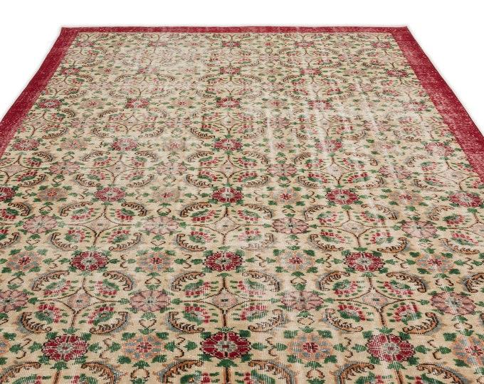Retro 6'12''X10'4'' Ft - Area Rug - Moroccan Rug - Boho Decor - Kilim Rug -  Rug - Oushak Rug - Persian Rug - Vintage Rug - Runner - Sale