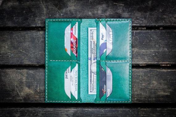 GL No.49 Green Personalized Handmade Unisex Long Wallet