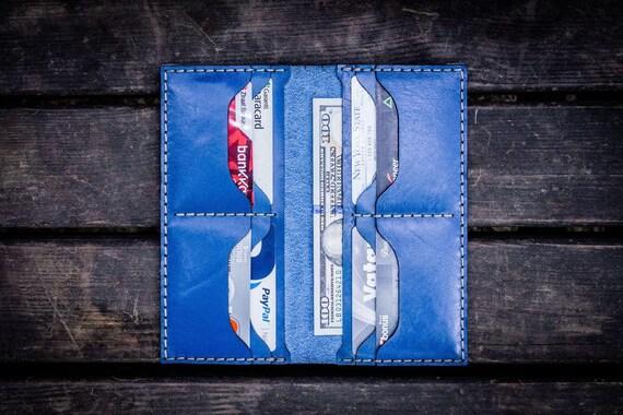 GL No.49 BluePersonalized Handmade Unisex Long Wallet