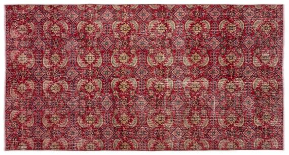 Vintage  Kilim Rug Retro Small Size 3'9'' X 7'1'' Ft   kilim rug, moroccan rug, beni ourain, rag rug, tapis kilim, vintage