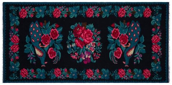 Kilim  Rug  Karabakh Large Size 5'6'' X 11'2'' Ft   kilim rug, moroccan rug, beni ourain, rag rug, tapis kilim, vintage