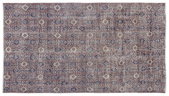 Vintage  Kilim Rug Retro Small Size 3'10'' X 6'11'' FtTurkish Oushak Moroccan Rug