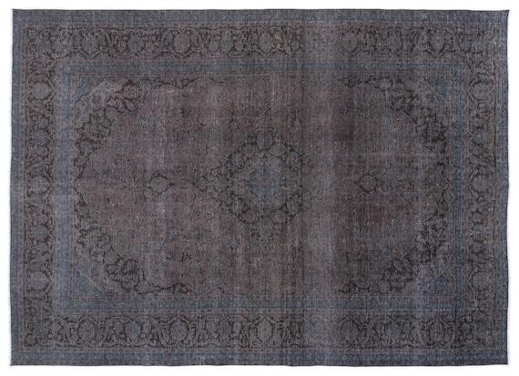 Persian  Kilim Rug Gray Oversized 9'5'' X 12'10'' Ft   kilim rug, moroccan rug, beni ourain, rag rug, tapis kilim, vintage
