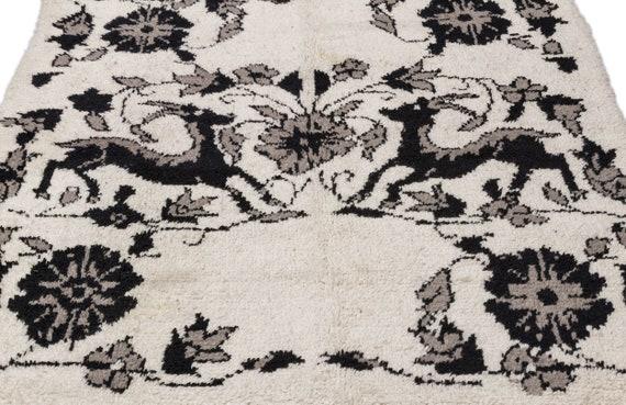 Tullu 5'2'' X 6'7'' Ft Kilim Rug , turkish rug, area rug, moroccan rug, boucherouite rug, persian rug, berber rug, wool rug