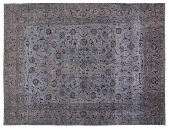 Gray  10'2'' X 13'2'' Ft Persian Handwoven Kilim Rug