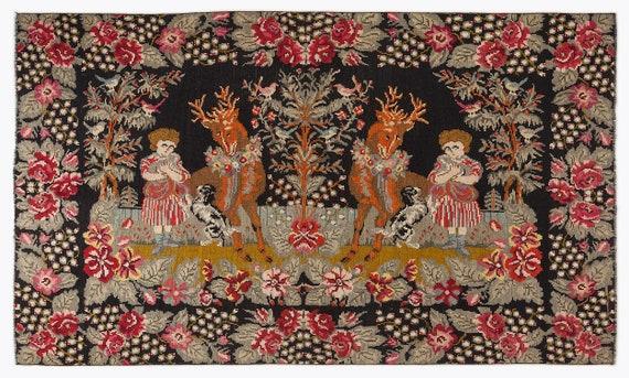 Kilim  Rug  Karabakh Large Size 6'3'' X 10'3'' Ft   kilim rug, moroccan rug, beni ourain, rag rug, tapis kilim, vintage