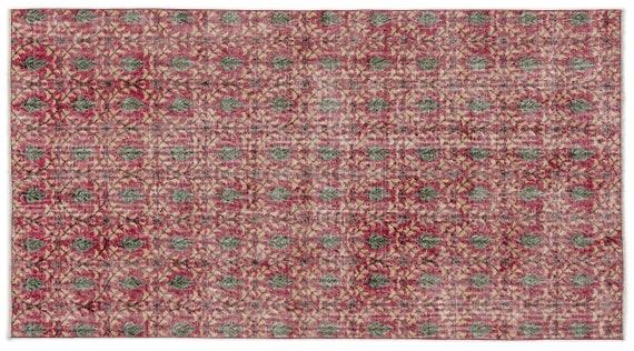 Vintage  Kilim Rug Retro Small Size 3'8'' X 6'11'' Ft   kilim rug, moroccan rug, beni ourain, rag rug, tapis kilim, vintage